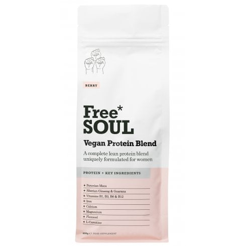 Free Soul Vegan Protein Blend Berry 600g