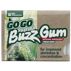 GoGo Guaran Buzz Gum (Sugar Free) single pack 10pcs