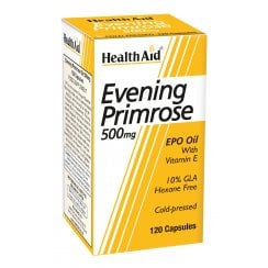 Evening Primrose Oil 500mg with Vitamin E 120's