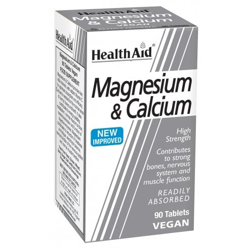 Health Aid Magnesium & Calcium  90's