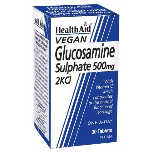 Health Aid Vegan Glucosamine Sulphate 500mg 2KCI 30's