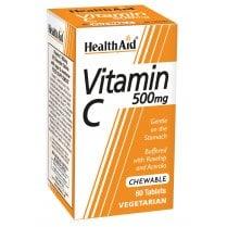 Vitamin C 500mg Chewable Orange Flavour 60's