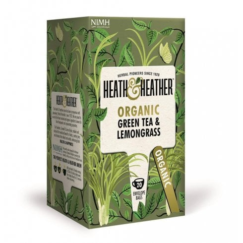Heath and Heather Organic Green Tea & Lemongrass 20's