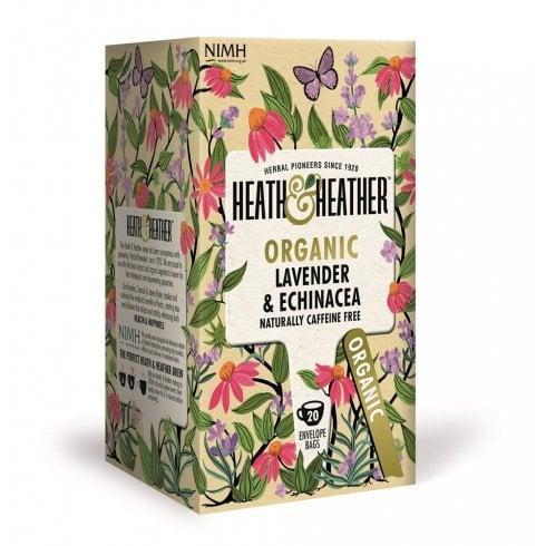 Heath and Heather Organic Lavender & Echinacea 20's