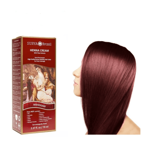 Surya Brasil Henna Cream Mahogany Surya Brasil 2.37oz Vegan, PPD Free