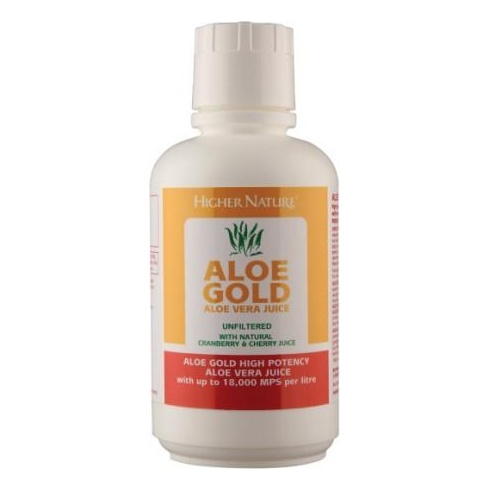 Higher Nature Aloe Gold Aloe Vera Juice Cranberry and Cherry 485ml