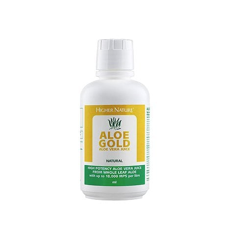Higher Nature Aloe Gold Aloe Vera Juice Natural 1 litre
