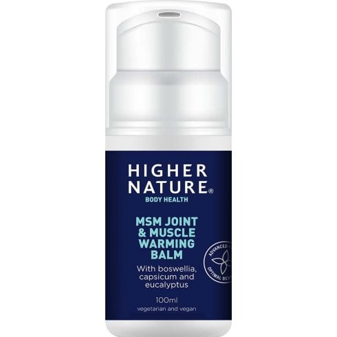 Higher Nature MSM Joint & Muscle Warming Balm 100ml