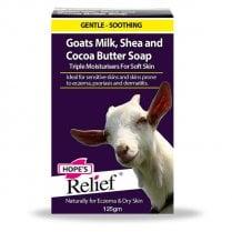 Hope's Relief Organic Shea & Cocoa Butter + 100% Fresh Goats Milk Soap 125g