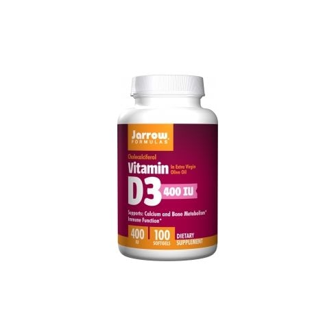 Jarrow Vitamin D3 400iu 100 softgels