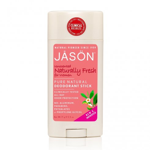 Jason Unscented Naturally Fresh for Women Deodorant Stick 71g