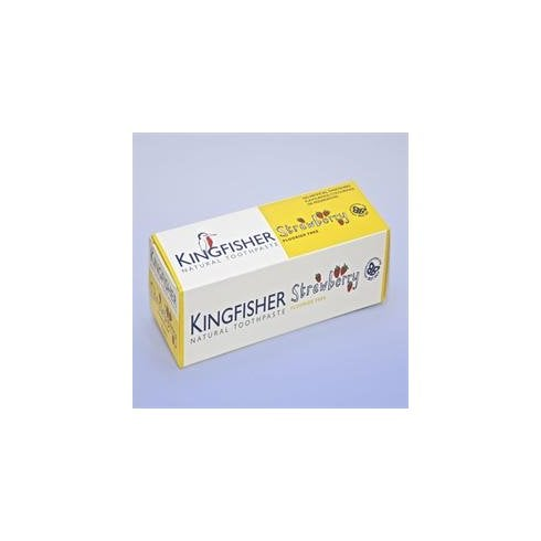 Kingfisher Strawberry Natural Toothpaste 75ml (Fluoride Free)