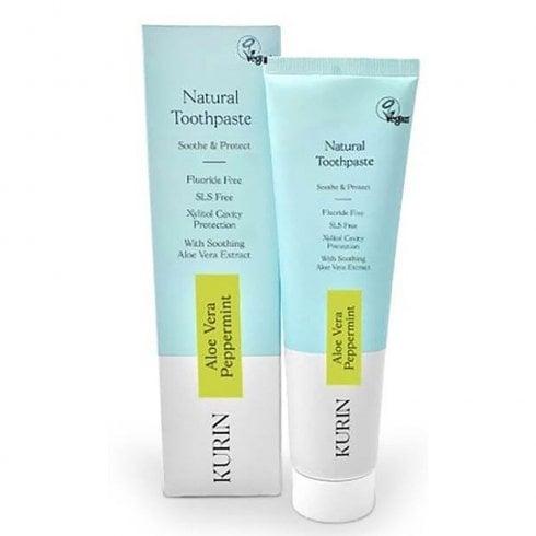 Kurin Fluoride Free Natural Aloe Vera Toothpaste Mint 100ml
