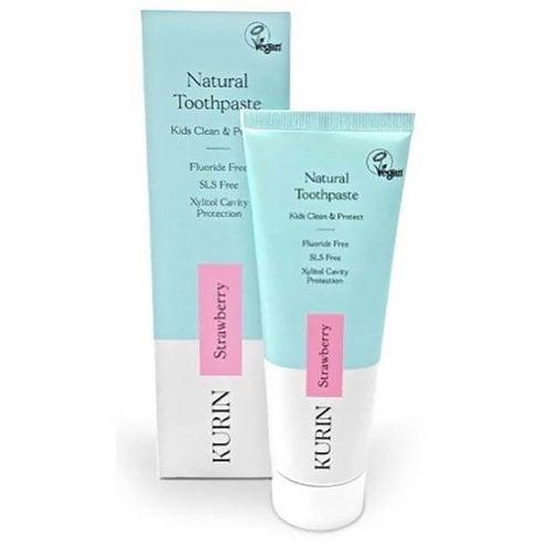 Kurin Fluoride Free Natural Kids Toothpaste Strawberry 75ml
