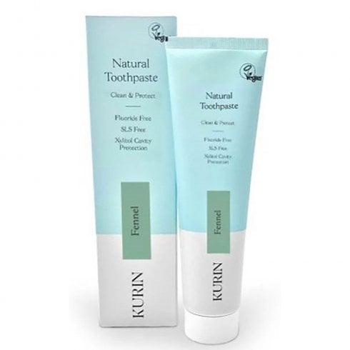 Kurin Fluoride Free Natural Toothpaste Fennel 100ml