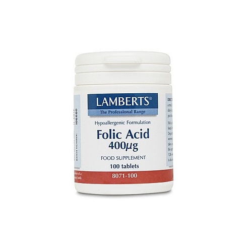 Lamberts Folic Acid 400ug - 100 tabs