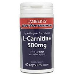 L-Carnitine 500mg - 60 capsules (Sports Range)