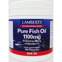 Lamberts Pure Fish Oil 1100mg Capsules - 180