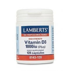 Vitamin D3 1000iu 120's (CAPSULES) (Currently Unavailable)