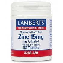Zinc 15mg (as citrate) - 180 tabs