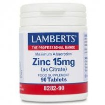 Zinc 15mg (as citrate) - 90 tabs