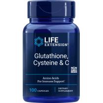Life Extension Glutathione, Cysteine & C - 100 Capsules