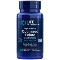 Life Extension High Potency Optimized Folate L-Methylfolate - 30 Tablets