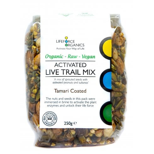 Lifeforce Organics Activated Live Trail Mix Tamari Coated (Organic) 125g
