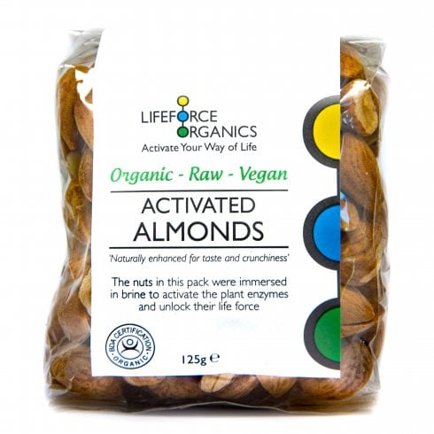 Lifeforce Organics Activated Organic Almonds 125g