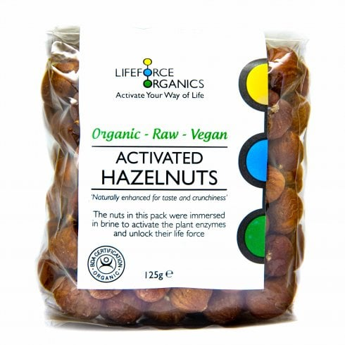 Lifeforce Organics Activated Organic Hazelnuts 125g