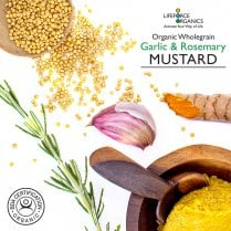 Organic Wholegrain Garlic & Rosemary Mustard 125g