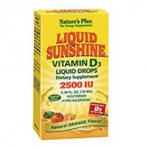 Liquid Sunshine Vitamin D3 2500iu 10ml - Orange Flavour Liquid Drops