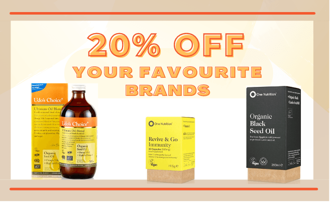 20% Off Your Favourite Brands