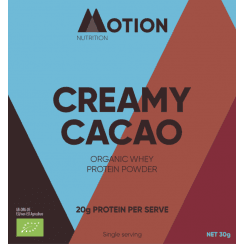 Creamy Cacao Organic Whey Protein Powder 30g (SINGLE)