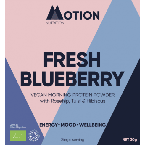 Motion Nutrition Fresh Blueberry Vegan Morning Protein Powder 30g (SINGLE)
