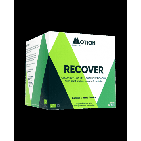 Motion Nutrition Recover Post-Workout Powder Banana & Berry Sachets 12s