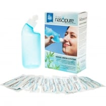 Nasopure Wash System 8oz bottle + 20 Salt Sachets