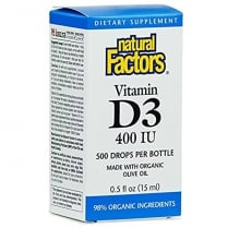 Vitamin D3 Drops 400i.u. (especially good for Kids) 15ml
