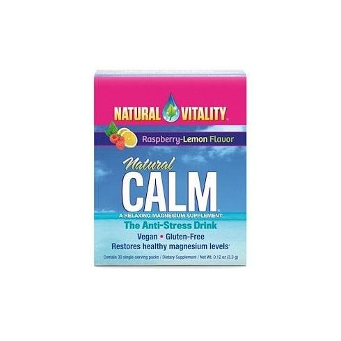 Natural Vitality Natural Calm (Raspberry & Lemon Flavour) -30 Packets