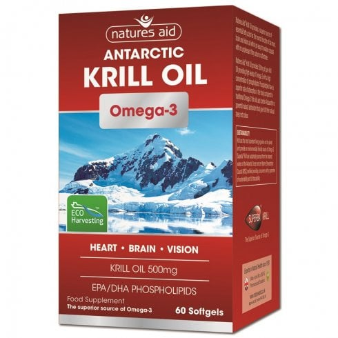 Nature's Aid Krill Oil Omega-3 500mg 60's