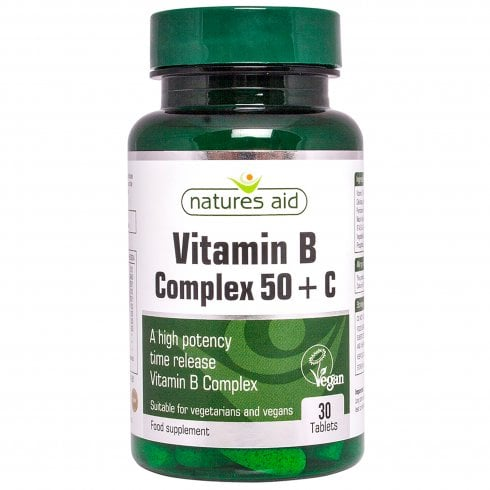 Natures Aid Vitamin B Complex 50 with Vitamin C 30's