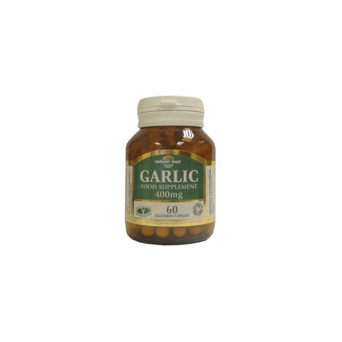 Nature's Own Garlic: Organic whole garlic powder 400mg 60's