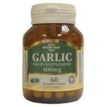 Garlic: Organic whole garlic powder 400mg 60's