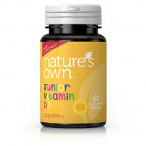 Nature's Own Junior Vitamin D3 25ug 60's