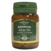 Niacin: Vitamin B3 50mg as niacinamide 50's