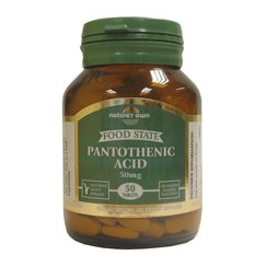 Pantothenic Acid: Vitamin B5 50mg 50's