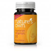 Nature's Own Vegetarian Vitamin D3 62.5ug 60's