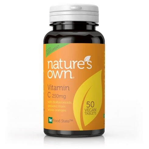 Nature's Own Vitamin C + Bioflavonoids: 250mg/80mg 50 TABLETS