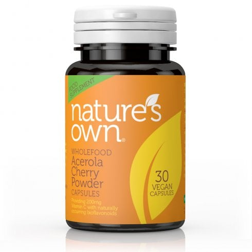 Nature's Own Wholefood Acerola Cherry Powder capsules 30's