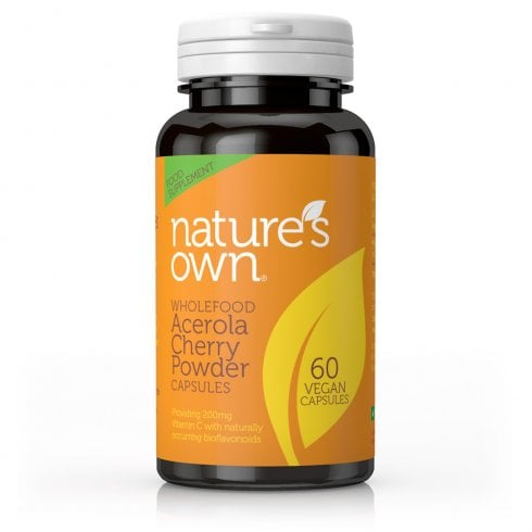 Nature's Own Wholefood Acerola Cherry Powder Capsules 60's